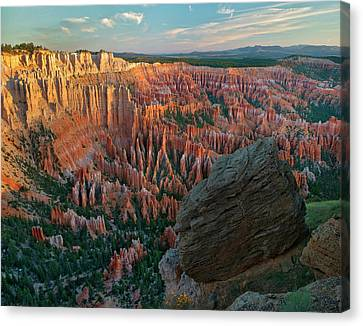 Inspiration Point Canvas Print - Looking Down Into Bryce Canyon by Tim Fitzharris