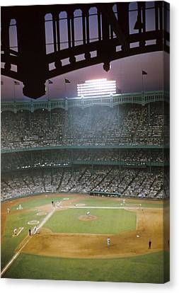Brillant Yankee Stadium Canvas Print by Retro Images Archive