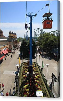 Looking Down On Cedar Point Canvas Print by Dan Sproul