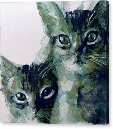 Paw Canvas Print - Looking For A Home by Paul Lovering