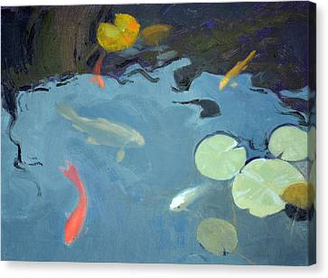 Aquatic Plant Canvas Print - Looking For Handouts by Armand Cabrera