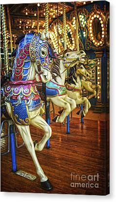 Canvas Print featuring the photograph Dancing Horses by Debra Fedchin