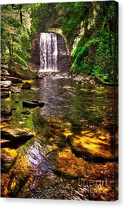 Looking Glass Falls In The Great Smokey Mountains Canvas Print