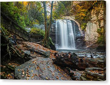 Canvas Print featuring the photograph Looking Glass Waterfall by RC Pics