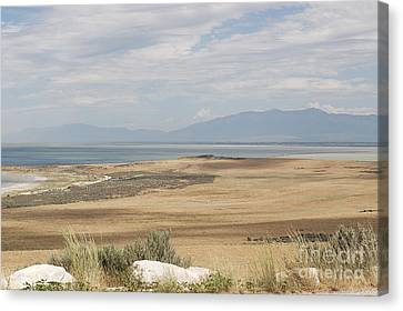 Canvas Print featuring the photograph Looking North From Antelope Island by Belinda Greb