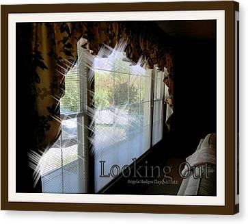 Canvas Print featuring the digital art Looking Out by Angelia Hodges Clay