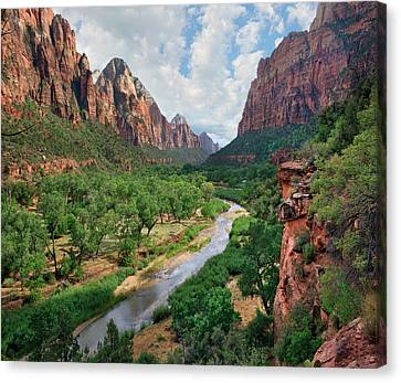 Zion National Park Canvas Print - Looking Out Into The Zion Canyon by Tim Fitzharris