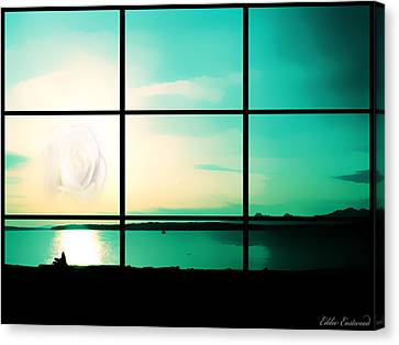 Canvas Print featuring the photograph Looking Out My Window by Eddie Eastwood