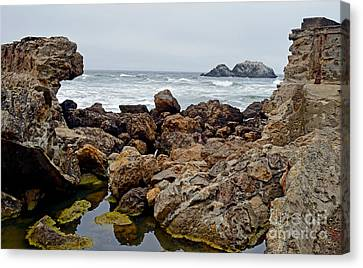 Looking Out On The Pacific Ocean From The Sutro Bath Ruins In San Francisco IIi Canvas Print by Jim Fitzpatrick