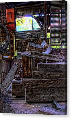 Looking Out The Car Window Canvas Print by David Patterson