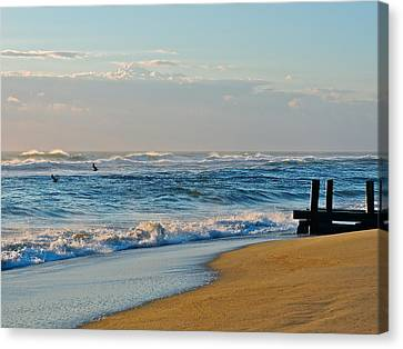 Looking Out To Sea Canvas Print by Eve Spring