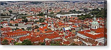 Looking Over Prague Canvas Print