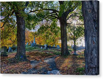 New England Autumn Canvas Print - Looking Over The Hill by Jeff Folger
