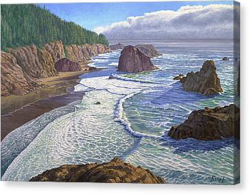 Oregon Coast Canvas Print - Looking South- Oregon Coast by Paul Krapf