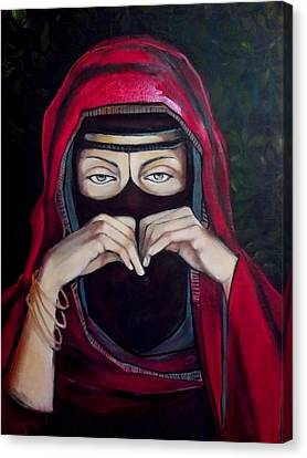 Looking Through Niqab Canvas Print