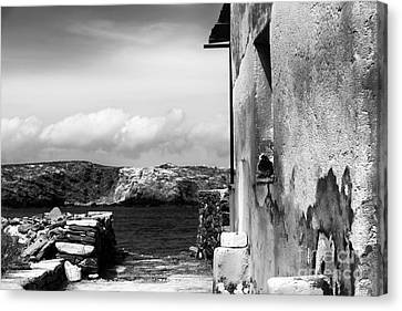 Delos Canvas Print - Looking To The Aegean Sea by John Rizzuto