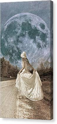 Mystical Landscape Canvas Print - Looking To The Light by Betsy Knapp