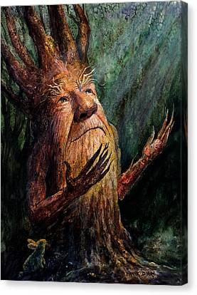 Tree Creature Canvas Print - Looking To The Light by Frank Robert Dixon