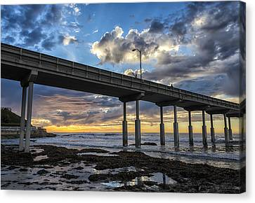 Looking Up At The Ob Pier Canvas Print
