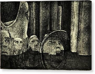 Lino Canvas Print - Looking Up by David Honaker