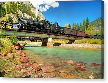 Looking Up From The Riverbed Canvas Print by Ken Smith