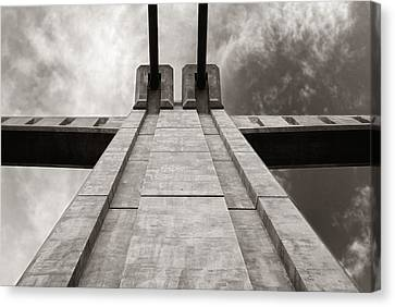 Looking Up On The Hennepin Avenue Bridge Canvas Print
