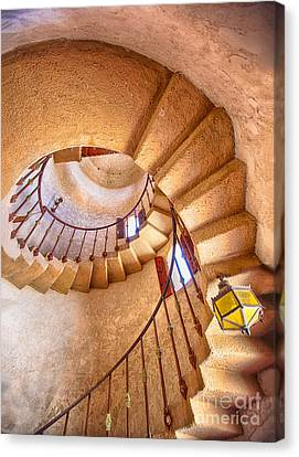 Looking Up The Down Staircase Canvas Print by Mimi Ditchie