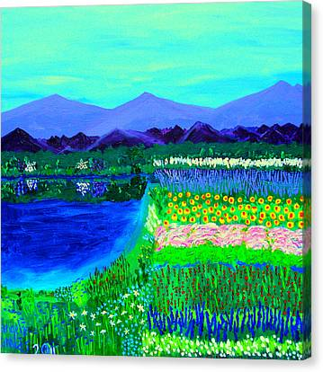 Lookout Over Susan's Garden Canvas Print