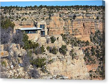 Lookout Studio At The Start Of The Bright Angel Trail Grand Canyon National Park Canvas Print by Shawn O'Brien