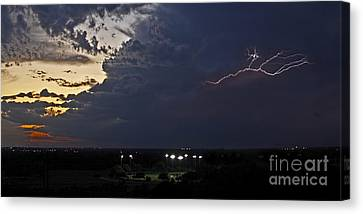 Looks Like Time To Call This Off Canvas Print by Gary Holmes