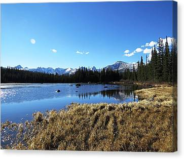 Looming Winter In The Rockies Canvas Print