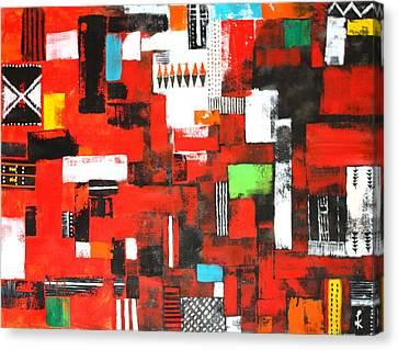 Looms Of Manipur Canvas Print by Kiruba Sekaran