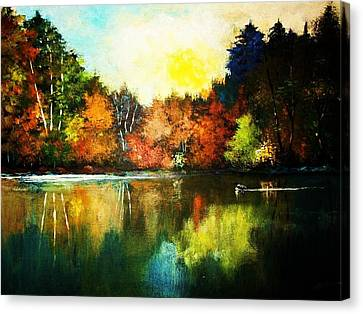 Loon Country Canvas Print by Al Brown