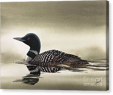 Loon In Still Waters Canvas Print by James Williamson