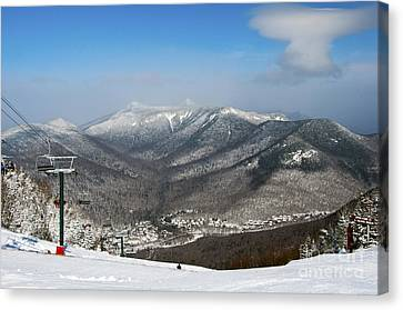 Loon Mountain Ski Resort White Mountains Lincoln Nh Canvas Print by Glenn Gordon