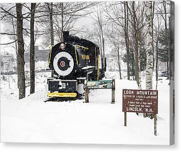 Loon Mountain Train Canvas Print by Glenn Gordon