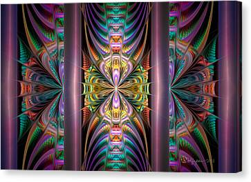 Loonie Behind Bars Canvas Print by Peggi Wolfe