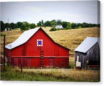 Block Quilts Canvas Print - Loose Creek Quilt Barn by Cricket Hackmann