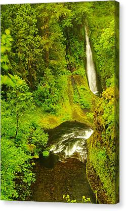 Loowit Falls Canvas Print by Jeff Swan
