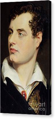 Lord Byron Canvas Print by William Essex
