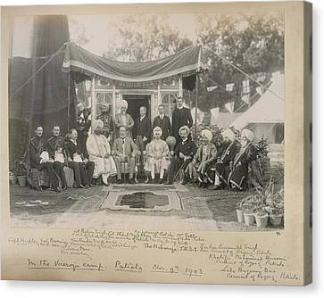 Lord Curzon And The Maharaja Of Patiala Canvas Print by British Library