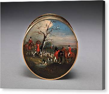 Lord Edward Thynne's Snuff Box, Decorated With Foxhunting Canvas Print by Litz Collection