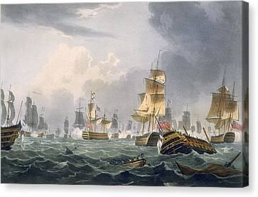 Lord Howes Victory, 1st June 1794 Canvas Print by Thomas Whitcombe
