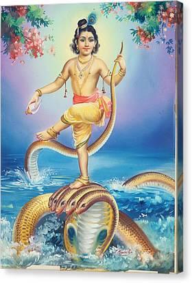 Lord Krishna Canvas Print by R Vijayann