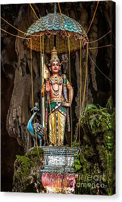 Lord Murugan Statue Canvas Print by Adrian Evans