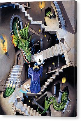Staircase Canvas Print - Lord Of The Dragons by Irvine Peacock