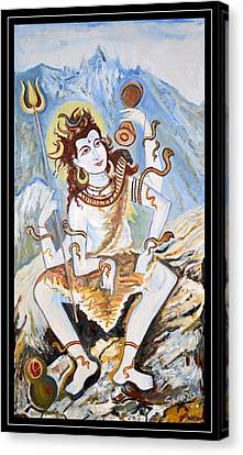 Lord Siva-the Creator Canvas Print by Anand Swaroop Manchiraju