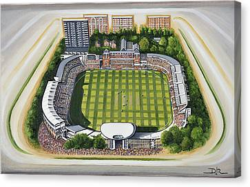 Lords Cricket Ground Canvas Print by D J Rogers
