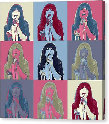 Loreen In Pop Art Canvas Print by Tommytechno Sweden
