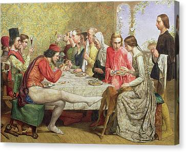 Lorenzo And Isabella Wc On Paper Canvas Print by Sir John Everett Millais